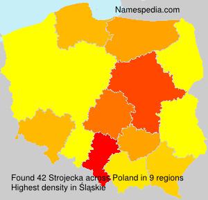 Familiennamen Strojecka - Poland