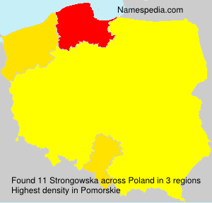 Surname Strongowska in Poland