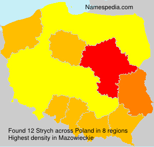 Surname Strych in Poland