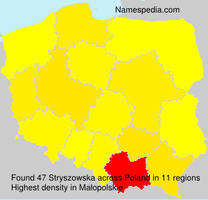 Surname Stryszowska in Poland
