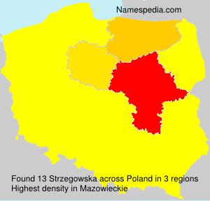Surname Strzegowska in Poland