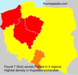 Surname Stutz in Poland