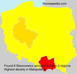 Familiennamen Stworzewicz - Poland