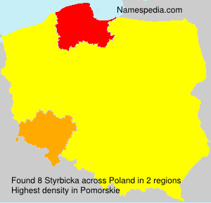 Surname Styrbicka in Poland