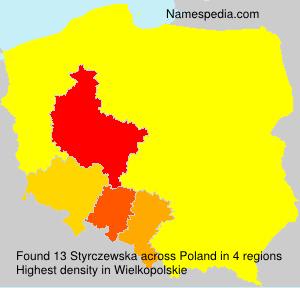 Surname Styrczewska in Poland