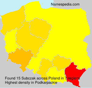 Surname Subczak in Poland