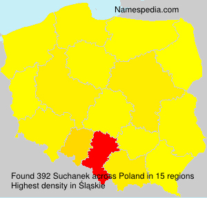 Familiennamen Suchanek - Poland