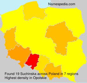 Surname Suchinska in Poland