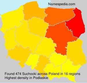 Surname Suchocki in Poland