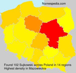 Surname Sujkowski in Poland