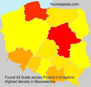 Surname Sulak in Poland