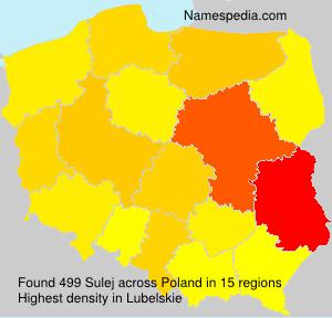 Familiennamen Sulej - Poland