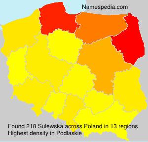 Familiennamen Sulewska - Poland