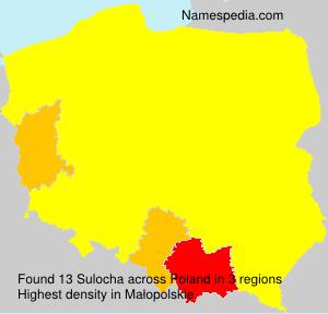 Surname Sulocha in Poland