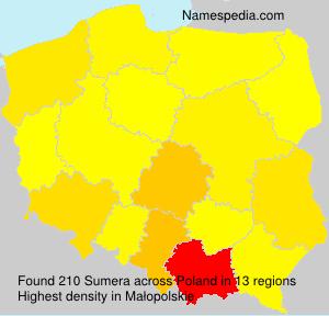 Surname Sumera in Poland