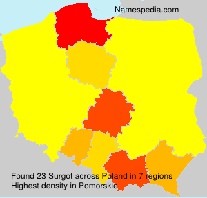 Surname Surgot in Poland