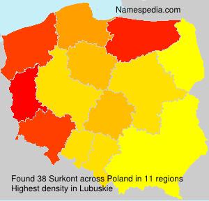 Surname Surkont in Poland