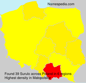 Surname Surulo in Poland