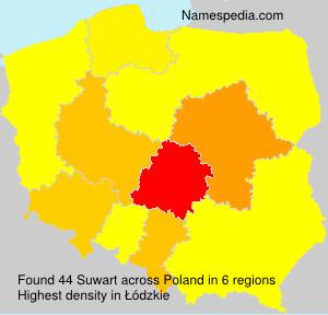 Surname Suwart in Poland