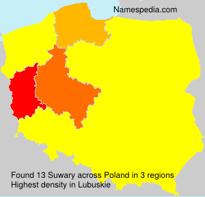 Surname Suwary in Poland