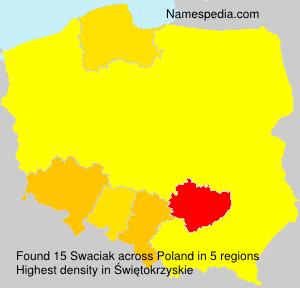 Surname Swaciak in Poland