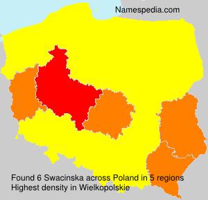 Surname Swacinska in Poland