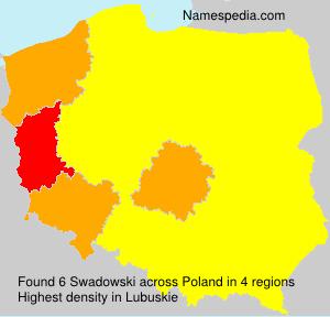 Familiennamen Swadowski - Poland
