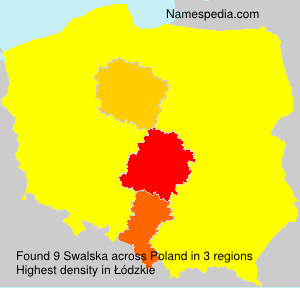Surname Swalska in Poland