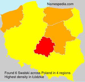 Surname Swalski in Poland