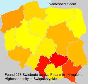 Familiennamen Swieboda - Poland