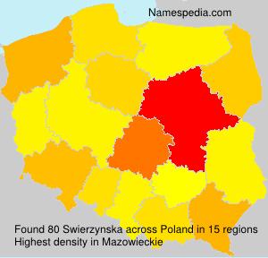 Surname Swierzynska in Poland
