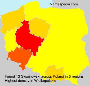 Surname Swornowski in Poland