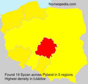 Surname Sycan in Poland