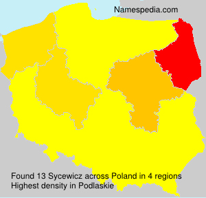 Surname Sycewicz in Poland