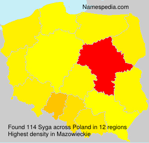 Surname Syga in Poland