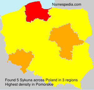 Surname Sykuna in Poland