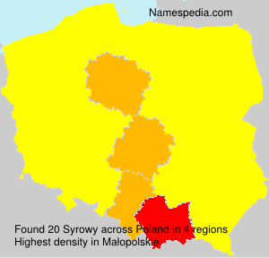 Surname Syrowy in Poland