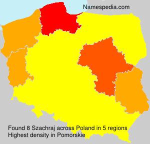 Surname Szachraj in Poland