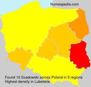 Surname Szadowski in Poland