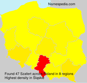 Surname Szafert in Poland