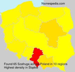 Familiennamen Szafruga - Poland