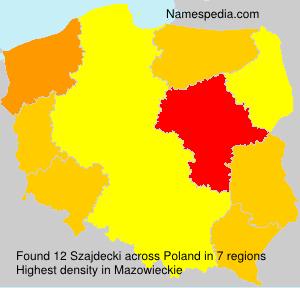 Surname Szajdecki in Poland