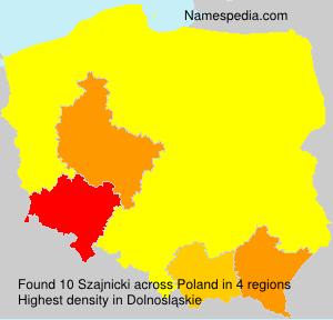Surname Szajnicki in Poland