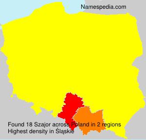 Surname Szajor in Poland