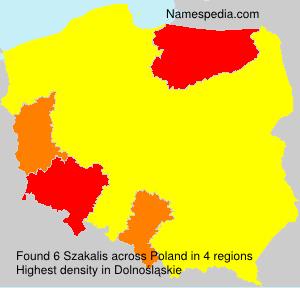 Surname Szakalis in Poland