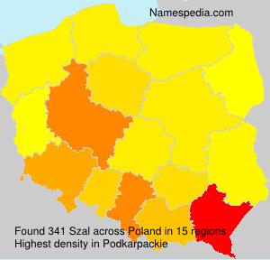 Familiennamen Szal - Poland