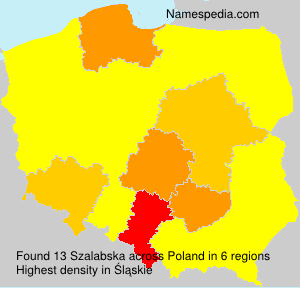Surname Szalabska in Poland