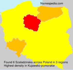 Surname Szaladzinska in Poland