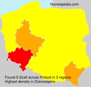 Surname Szall in Poland