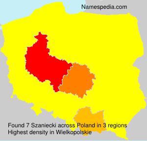 Surname Szaniecki in Poland